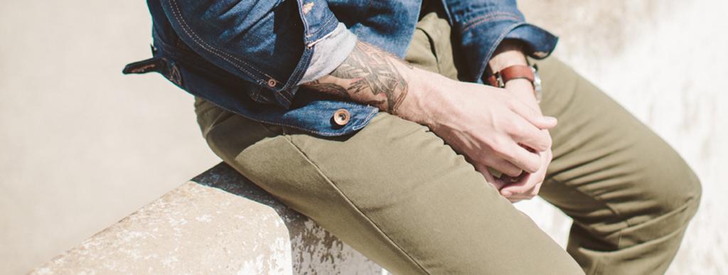 I pantaloni Chinos da Uomo